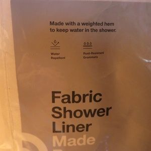 FABRIC SHOWER LINER WHITE SATIN MADE BY DESIGN